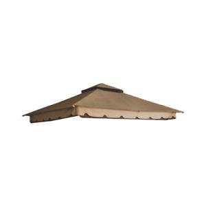 Telo top copertura di ricambio per gazebo Minori 3x3 mt colore beige e caffè