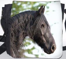 FRIESE Pferd - Schwarze SCHULTERTASCHE Tasche Umhängetasche Bag 32 - FRI 03