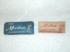 Vintage Super  **Meritone** Phonograph Needles--20--Original Envelopes