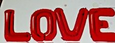 """4 x 18"""" FOIL BALLOON VALENTINES DAY LETTERS RED LOVE - AIR FILL ONLY LARGE SIZE"""
