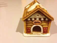 Lefton Rovers Dog House Colonial Village  Figurine 1 1/4 Tall