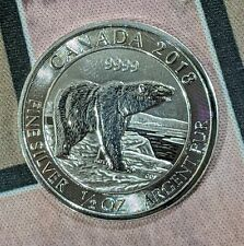 2018 Canada Silver Half 1/2 Oz Polar Bear Uncirculated
