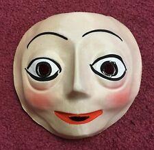 Vintage & Unused 1940's Creepy Face Gauze Halloween Costume Mask