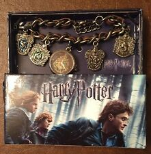 Harry Potter Hogwarts Crests Charms Bracelet Watch New In Box!