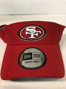 SAN FRANCISCO 49ERS NFL NEW ERA 2018 ON FIELD TRAINING MEN'S ADJUSTABLE VISOR