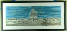 United State Capital building pen and pastel drawing made by artist Eric Pearson
