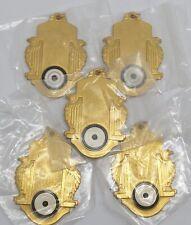 Archery Lot 5 Gold-Tone w/ Black White Target Award Pendants Medals (Rf1010-5)