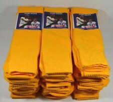 Lot 21 Pairs of Gold Team Sports Game Socks Soccer Baseball Football Size 10-13