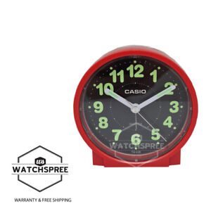 Casio Analog Red Resin Table Clock TQ228-4D
