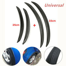 4x Car Universal Carbon Fiber Body Kits Rubber Strip Fender Flares Wheel Lips