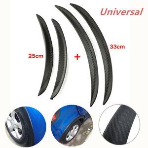 4PCS Car Universal Carbon Fiber Body Kits Rubber Strip Fender Flares Wheel Lips