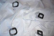 Exklusive & Hochwertige  Gardine 2 x 1,75 ,Weiß / Schwarz , NEU