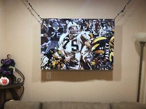 HUGE! 44x31 HOWIE LONG vinyl Banner POSTER Oakland Raiders Marcus Allen MAN CAVE