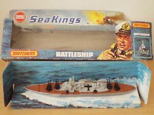 Lesney Matchbox Sea Kings K303 BATTLESHIP, dusty but otherwise SUPERB