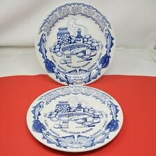 More details for 2 x vintage john buck british fish and chip dinner plates c.1950's 24.5cm