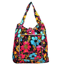 Everyday Deal Klein Travel Women Eco Shopping Tote bag Portable Pouch (Flowers)