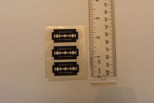 Temporary tattoos diamonds and blades 3 sheets 1.5x2.5 inch