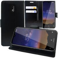 """Nokia 2.2 (2019) 5.71"""" TA-1183 Étui Portefeuille En Cuir Antichoc Housse à Rabat"""