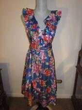 RALPH LAUREN Dress Size 2 MU MAX ROY Flower Print Silk ~ NEW with TAG