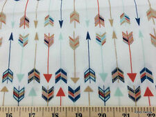 Mint Coral Navy Gold Metallic Tribal Arrows Custom Handcrafted Valance NEW a5/16