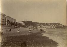 PHOTO ANCIENNE - VINTAGE SNAPSHOT - NICE QUAI DU MIDI PLAGE - BEACH 1914