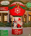 HUGE NEW 11.5 FT TALL SANTA CLAUS PENGUIN HOT AIR BALLOON RIDE GEMMY INFLATABLE