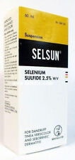SELSUN Anti Dandruff Treatment Shampoo Selenium Sulfide 2.5% Dermatitis 2oz/60m