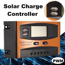 20A Auto USB Charge Controller Solar Panel LCD Display PWM Regulator 12V /24V !