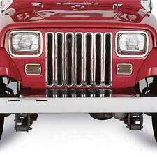 Jeep Wrangler YJ Chrome Grille Inserts 1987-1995 Smittybilt 7509