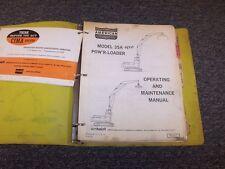 American 35A Hydraulic Log Loader Excavator Owner Operator & Maintenance Manual