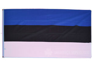 ESTONIA FLAG - NEW 5 x 3 FT - ESTONIAN - LARGE - GREAT QUALITY - FAST POST