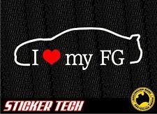 I LOVE (HEART) MY FG STICKER DECAL SUITS FORD FALCON BOSS 335 SEDAN FPV XR8 XR6