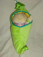 "Manhattan Toy Co Sweet Pea Pod Removable Doll 12"" Plush Soft Toy Stuffed Animal"