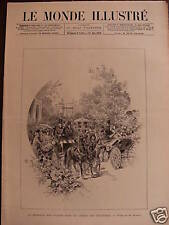 LE MONDE ILLUSTRE 1886 N 1525 BATAILLE DE FLEURS DANS LES JARDINS DES TUILERIES