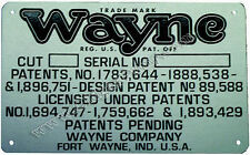 Wayne Clock Face Gas Pump Models 851 & 861 ID Tag ID-130