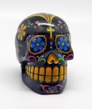 Colorful Black Day of the Dead Sugar Skull Box!