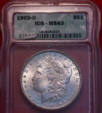1902-O New Orleans Mint Silver Morgan Dollar ICG MS 63
