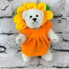 Teddy Bear Plush Wearing Sunflower Costume Jointed Stuffed Animal Soft Toy