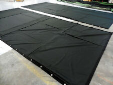 Black Stage Curtain/Backdrop 8 H x 15 W, 20% OFF (horizontal & vertical seams)