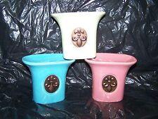 3 Assorted Color Fleur De Lis Design Ceramic  Fragrance Oil Burners, Warmers