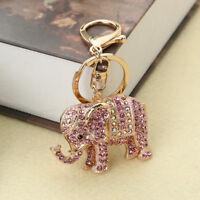 Cute Elephant Keyring Purse Lady Bag Pendant Charm Key Ring Chain Keychain Gifts