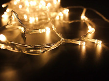 400 LED 42M Warm White String Fairy Lights On Clear Cable 8Light Modes Christmas