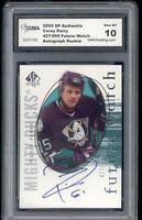 2005 Corey Perry Sp Authentic Auto Autograph Rookie Gem Mint 10