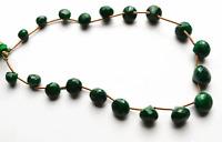 "123.CT.9.5"" GENUINE Super Natural Emerald Faceted ONION SHAPE Briolettes 8 -10MM"