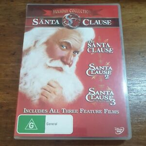 The Santa Clause Holiday Collection Tim Allen DVD R4 Like New! Christmas 3 Movie