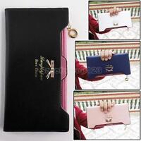 Women Lady Fashion PU Leather Zip Wallet Clutch Purse Long Card Holder Handbag