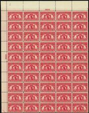 627, Xf Mint Nh Wide Top Pl# Sheet of 50 2¢ Stamps Brookman $295.00 Stuart Katz
