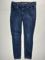Express 2S Blue Low-Rise Legging Women's Stretch Denim Skinny Fit Jeans 2 Short