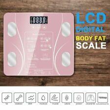 Digitale Körperwaage Fitnesswaage Personenwage Gewicht Waage 180KG BMI Analyse