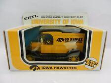 1981 ERTL 1:25 *IOWA HAWKEYES* 1913 Ford Model T Delivery BANK *NIB*